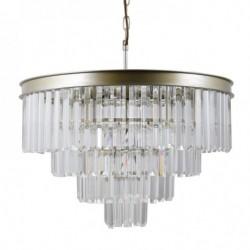 Lampa wisząca VERDES PND-44372-8-CHMP-GLD złoty ITALUX