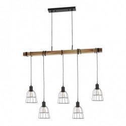 Lampa wisząca PONTE PND-4290-5-L czarny ITALUX