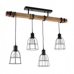 Lampa wisząca PONTE PND-4290-4-L czarny ITALUX