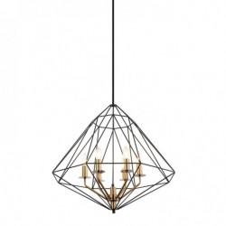 Lampa wisząca MARESMO PEN-6369-6-BKBR czarny ITALUX