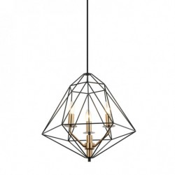 Lampa wisząca MARESMO PEN-6369-3-BKBR czarny ITALUX