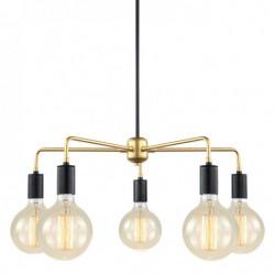 Lampa wisząca MALENE MDM3386/5 BK+GD złota ITALUX