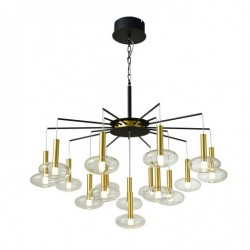 Lampa wisząca HASSELT PND-42773-16 czarny ITALUX