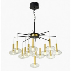 Lampa wisząca LED HASSELT PND-42773-13 czarny ITALUX