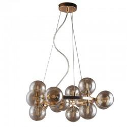 Lampa wisząca kule bursztynowe MARBELIO PND-6161-15 GO+CO złota ITALUX