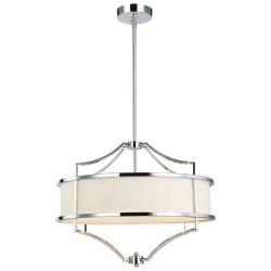 Lampa wisząca w stylu Hampton chrom biały fi55 Stesso Cromo M Orlicki Design