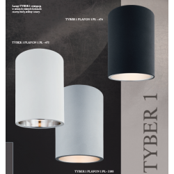 Plafon LED TYBER 3093 ARGON szary