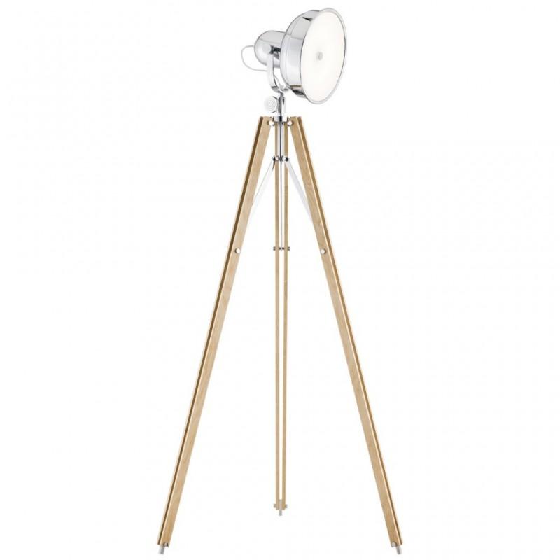 Lampa podłogowa FOTO NEW 3354 drewno/chrom ARGON